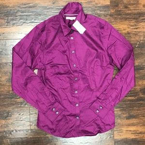 Banana Republic Fuchsia Blouse Sz 12